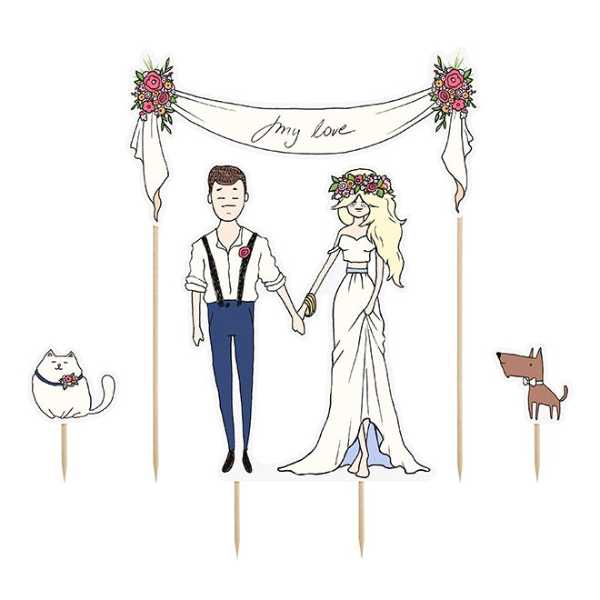 My Love Cake Topper Set