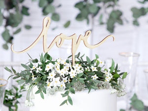 Load image into Gallery viewer, Wooden Love Cake Topper