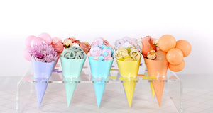 Load image into Gallery viewer, Metallic Rose Gold Snack Cones (10 pack)