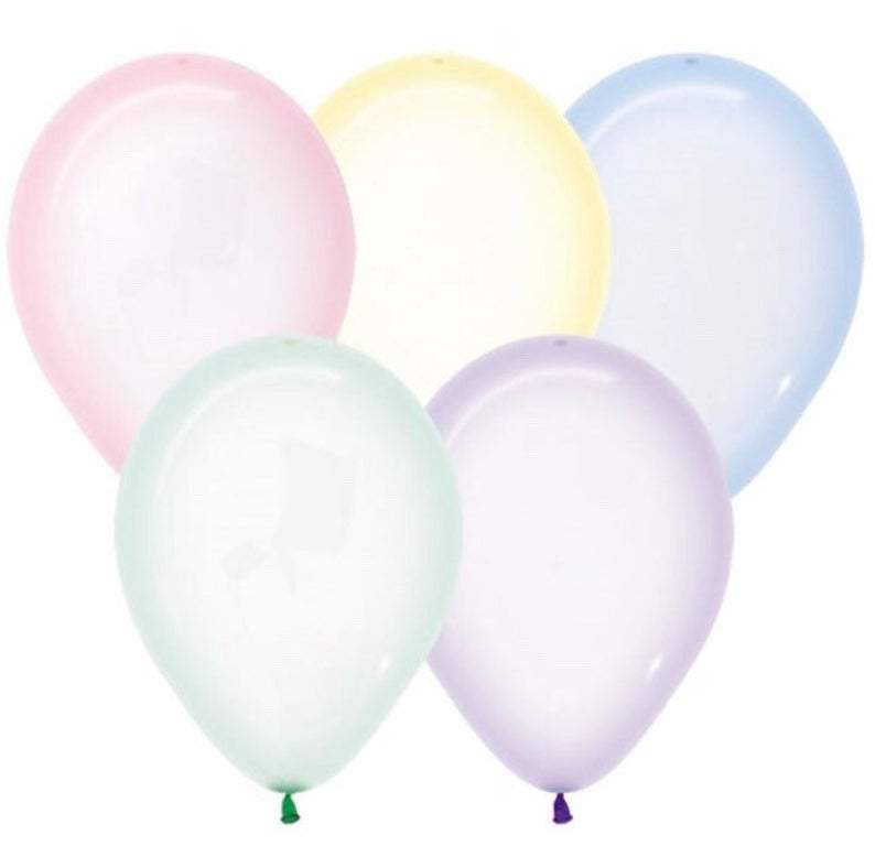 Crystal Pastel Standard 30cm Balloons (5 pack)