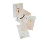 Daydream Watercolour Table Numbers (1-10)