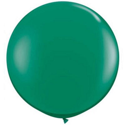 Jewel Emerald Green Giant 90cm Round Balloon