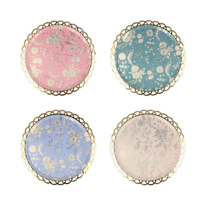 English Garden Lace Plates (8 pack)
