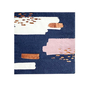 Erika Navy Abstract Cocktail Napkins (20 pack)