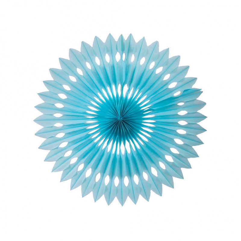 Load image into Gallery viewer, Pastel Blue Paper Hanging Fan (40cm)
