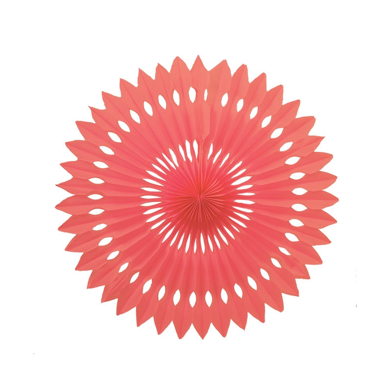 Coral Paper Hanging Fan (40cm)