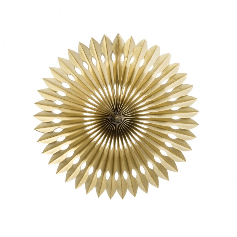 Load image into Gallery viewer, Gold Paper Hanging Fan (40cm)
