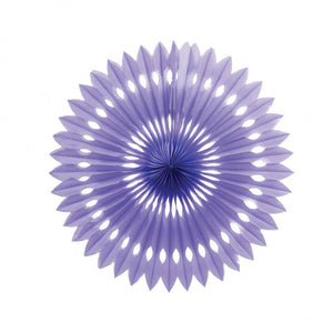 Load image into Gallery viewer, Lilac Paper Hanging Fan (40cm)