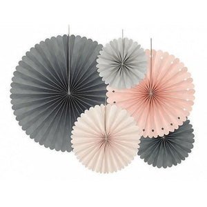 Load image into Gallery viewer, Peach & Grey Fans (5 pack)
