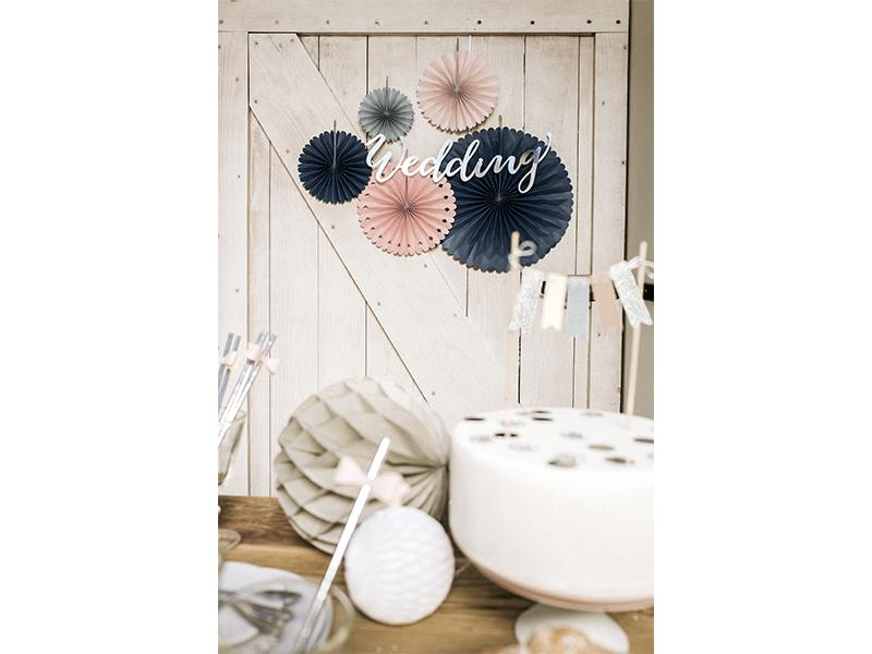 Peach & Grey Fans (5 pack)
