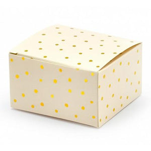 Peach & Gold Dot Favour Boxes (10 pack)