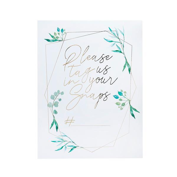 Greenery Instagram Signs (2 pack)