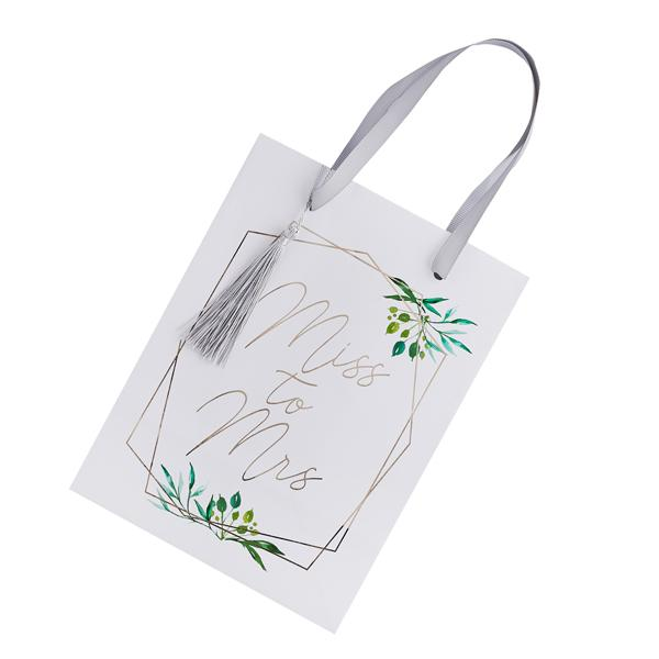 Miss to Mrs Greenery Favour Bags (5 pack)