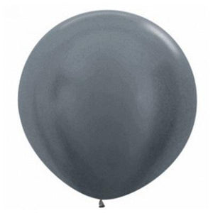 Pearl Graphite Giant 90cm Round Balloon
