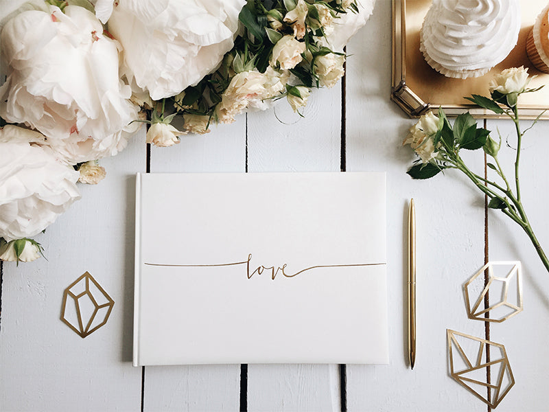 Gold Love Guest Book