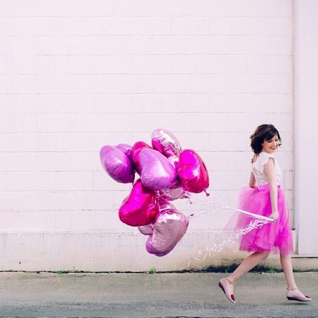 Bubble Gum Pink Foil Heart Balloon