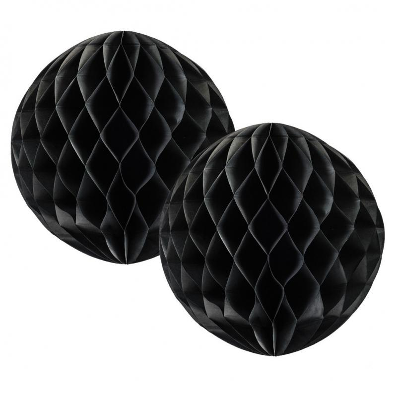 Black Honeycomb Balls 15cm (2 pack)