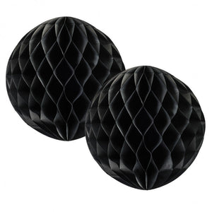 Load image into Gallery viewer, Black Honeycomb Balls 15cm (2 pack)