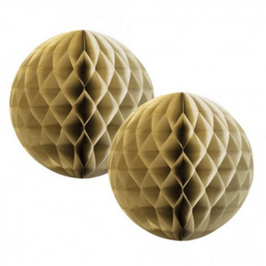 Load image into Gallery viewer, Gold Honeycomb Balls 15cm (2 pack)