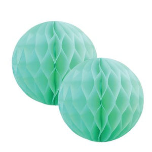Mint Honeycomb Balls 15cm (2 pack)