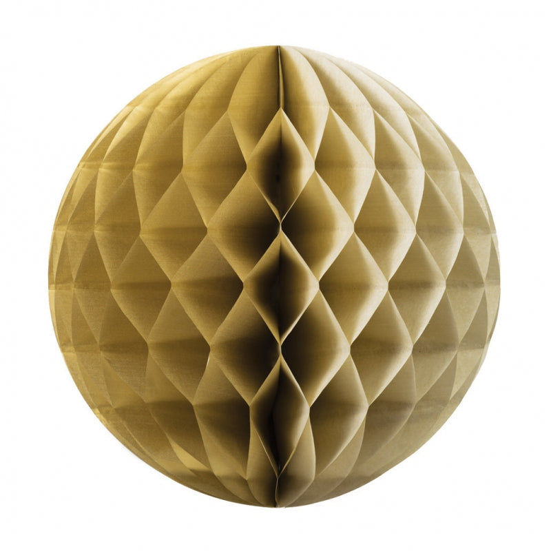 Gold Honeycomb Ball 25cm