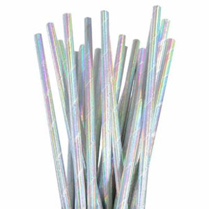 Load image into Gallery viewer, Iridescent Foil Straws (25 pack)