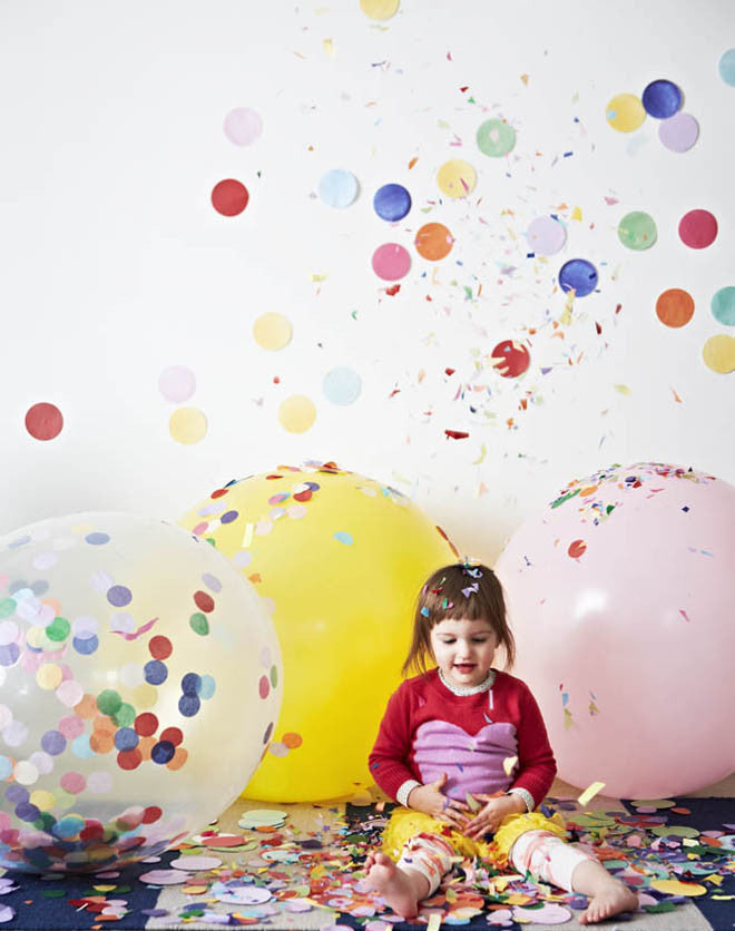 Load image into Gallery viewer, Rainbow Jumbo 90cm Confetti Balloon