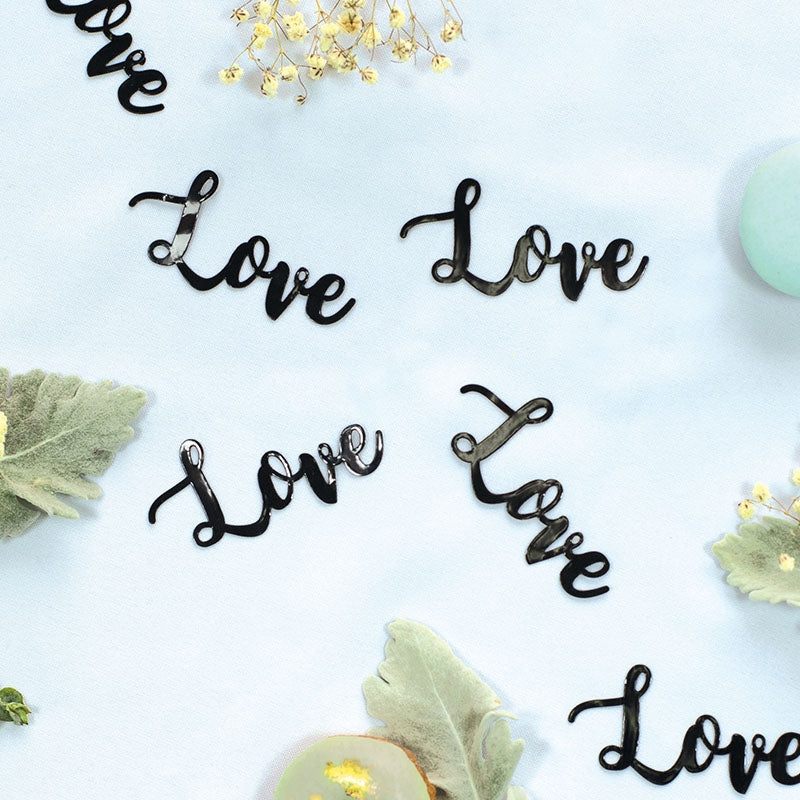 Black 'Love' Jumbo Confetti