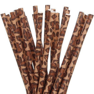 Load image into Gallery viewer, Leopard Print Straws (25 pack)