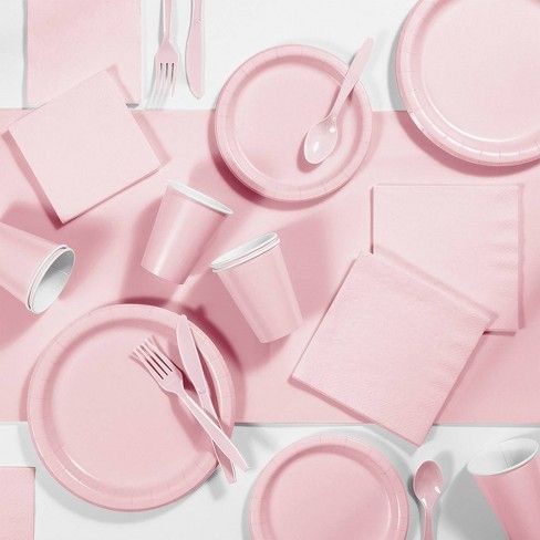 Pale Pink Party Cups (24 bulk pack)
