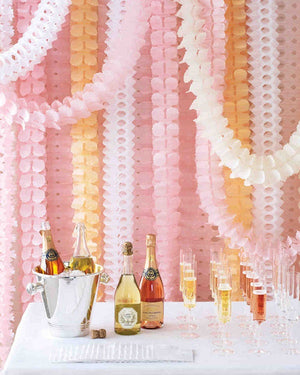 Peach Honeycomb Garland (4m)