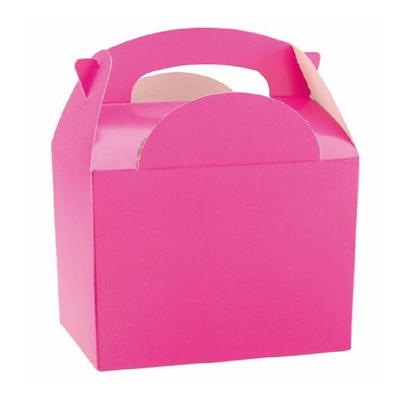 Bright Pink Gable Party Boxes (5 pack)