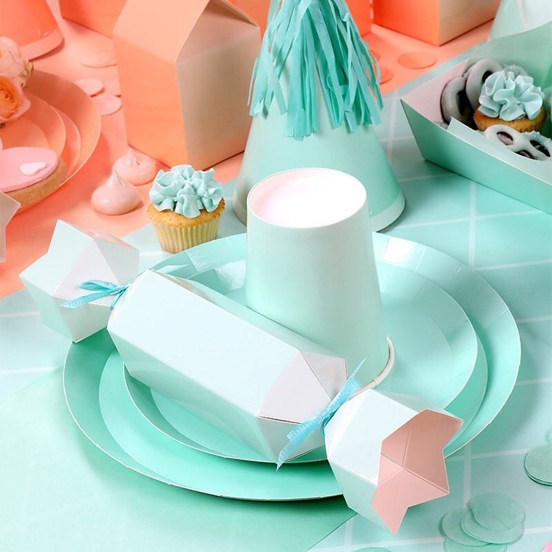 Pastel Mint Cups (10 pack)