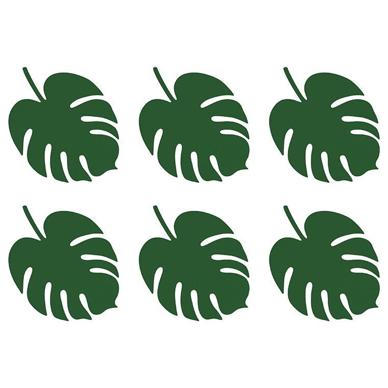 Green Monstera Leaf Place Cards (6 pack)