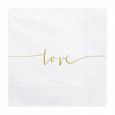 White Love Napkins (20 pack)