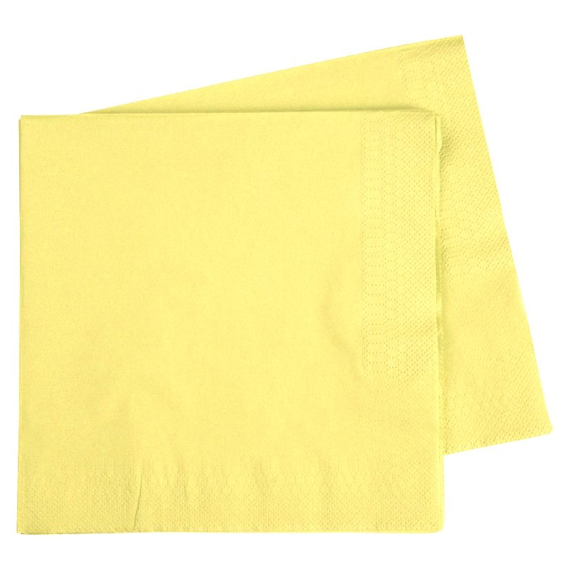 Load image into Gallery viewer, Pastel Yellow Napkins (40 pack)