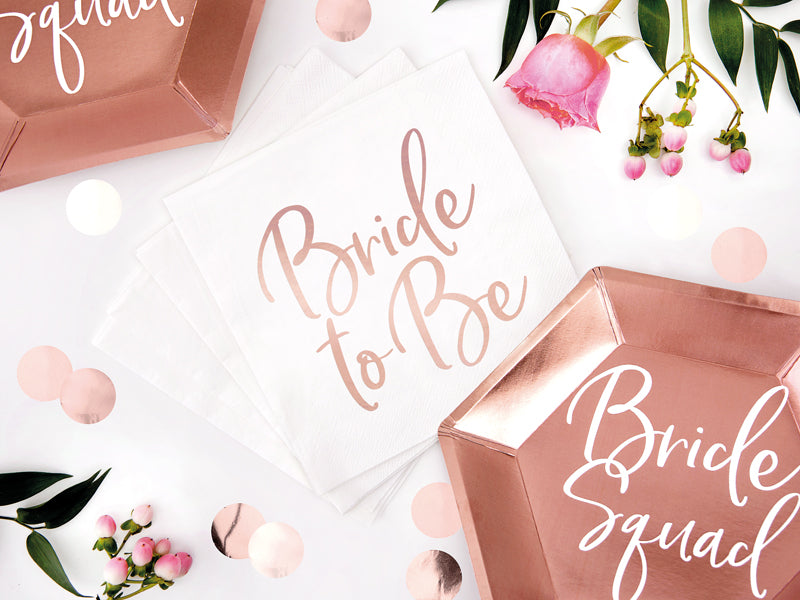 Load image into Gallery viewer, Rose Gold Bride To Be Napkins (20 pack)