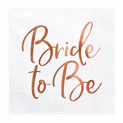 Rose Gold Bride To Be Napkins (20 pack)