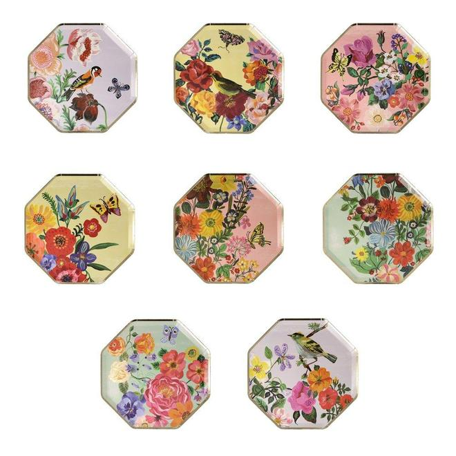 Nathalie Lete Flora Small Plates (8 pack)