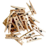 Natural Mini Wooden Pegs (20 pack)