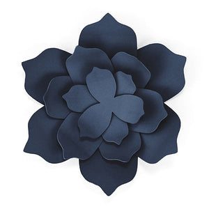 Navy Blue Flowers (3 pack)