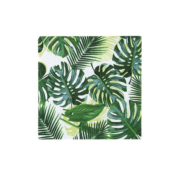 Load image into Gallery viewer, Tropical Palm Leaf Cocktail Napkins (20 pack)
