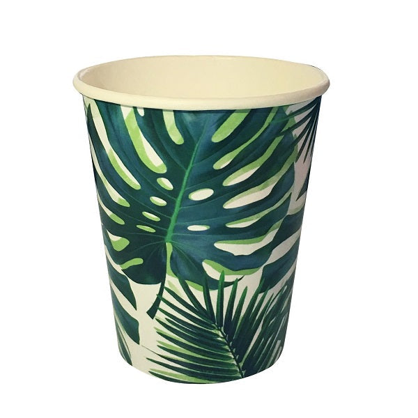 Tropical Palm Leaf Cups (8 pack)