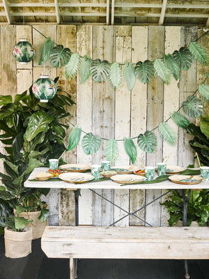 Tropical Palm Leaf Garland