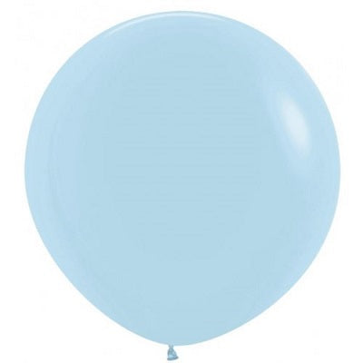 Load image into Gallery viewer, Matte Pastel Blue Giant 90cm Round Balloon