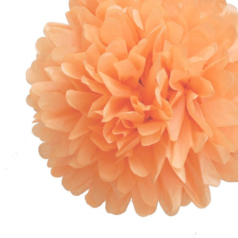 Load image into Gallery viewer, Peach Tissue Pom Pom