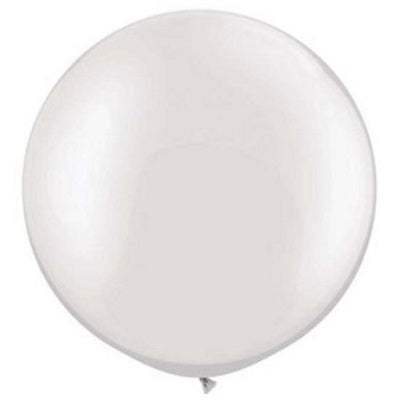 Pearl White Giant 75cm Round Balloon