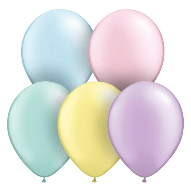 Pearl Pastel Mini 12cm Balloons (5 pack)