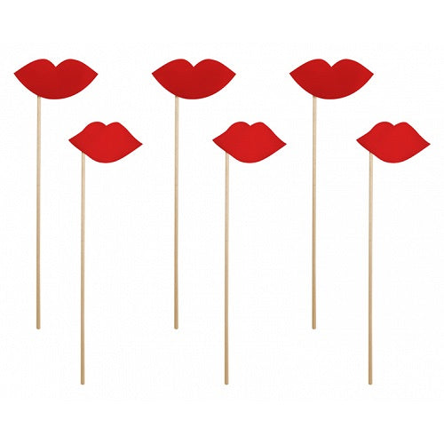 Red Lips Photo Props (6 pack)