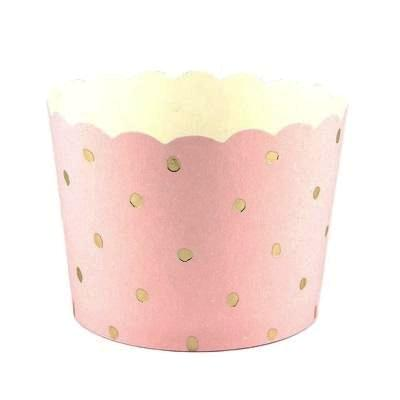 Pink & Gold Dot Baking Cups (25 pack)